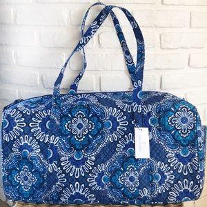 Vera Bradley- Large Traveler Duffel Blue Tapestry